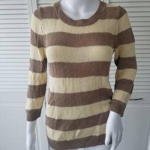 J Crew cotton/linen striped sweater small